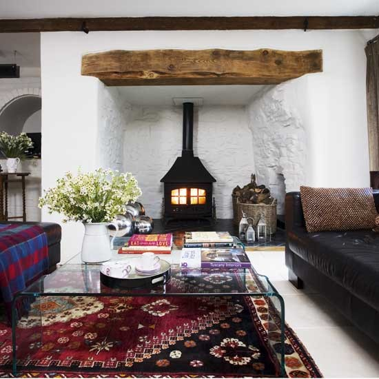 Wood Burning Stove Living Room