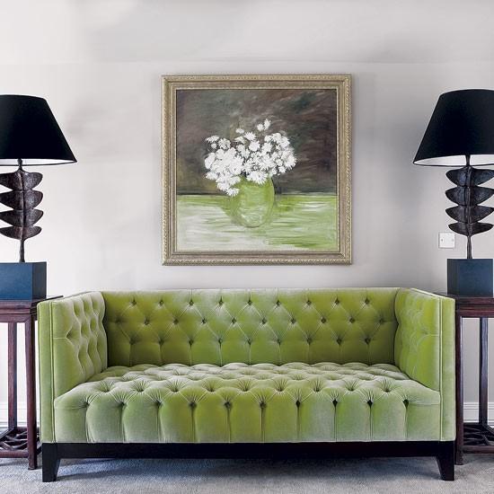 Statement Green Sitting Room Sofa