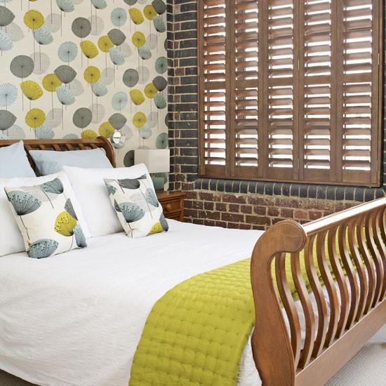 Exposed brick bedroom bedrooms design ideas image - Bedroom with brick wallpaper ...