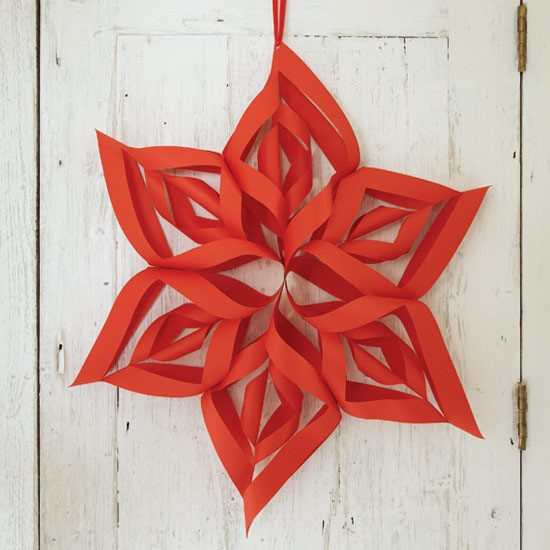 3 d star how to make christmas decorations housetohome for Paper christmas decorations to make at home