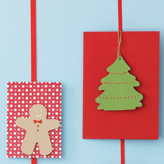 paint wood shapes how to make your own christmas cards