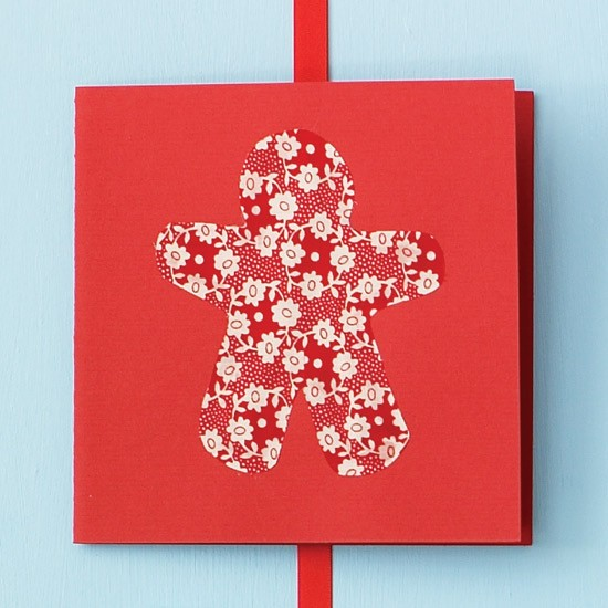 Use up off cuts of fabric how to make your own christmas for How to make your own christmas cards
