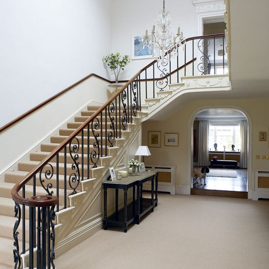 Deco ideas stylish hallways interior decorating accessories for Georgian staircase design