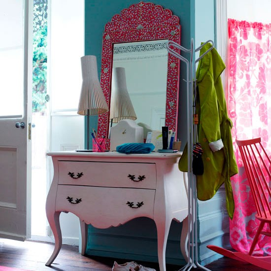 Transform a dressing table with eye-popping paint colours