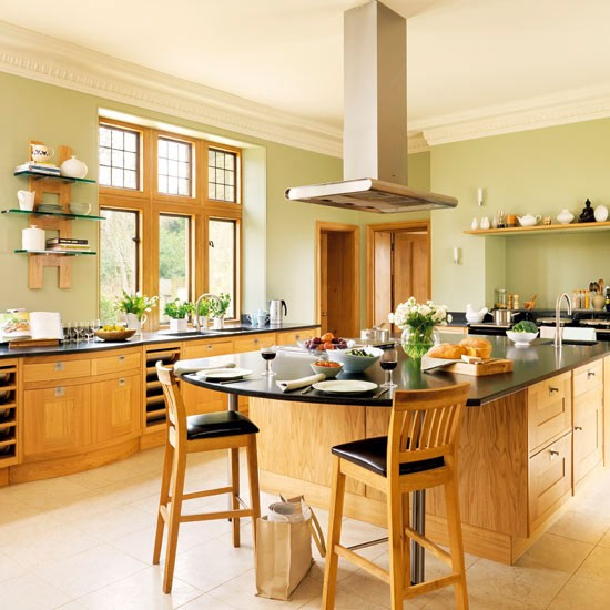 Country kitchen with modern worktops | Country kitchens | Kitchen design | PHOTO GALLERY | Housetohome.co.uk