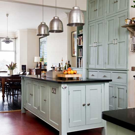 Painted country kitchen with pendant lights | Country kitchens | Kitchen design | PHOTO GALLERY | Housetohome.co.uk