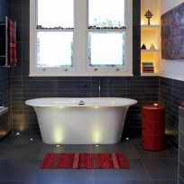 Add drama to your bathroom with spotlights