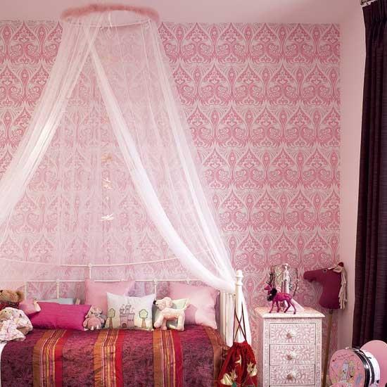 Male Bedroom Art Bedroom Queen Pink Striped Wallpaper Bedroom Bedroom Curtains Ideas Uk: Child's Pink Bedroom