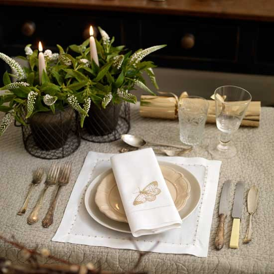 Gold tableware | Dining table | Design ideas | Image | Housetohome