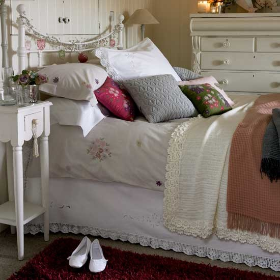 Cream country-style bedroom