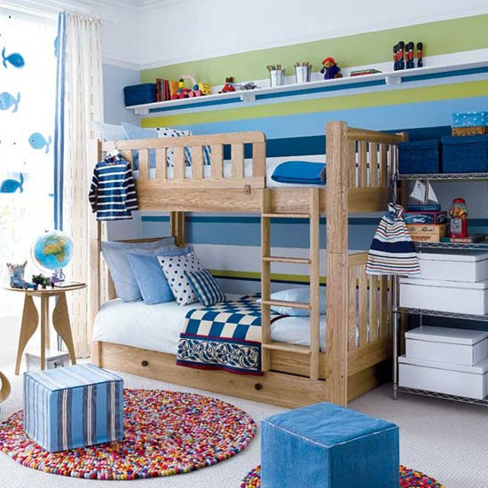 Give a boy's bedroom the wow factor with a striking wallpaper print