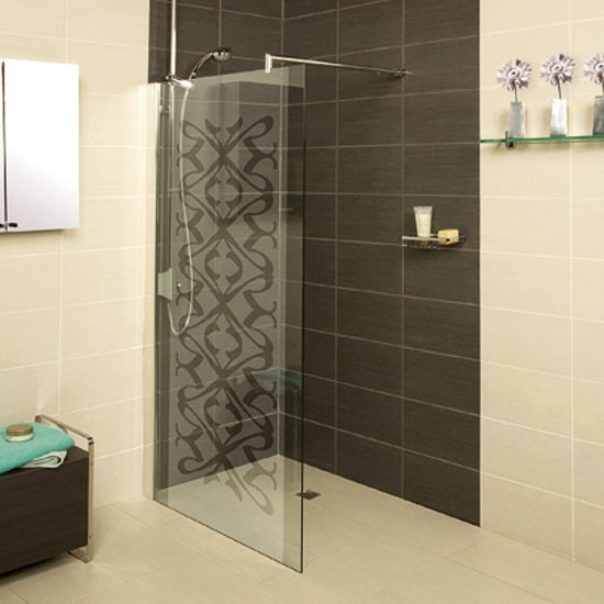 Patterned Shower Screen Bathroom Decor Bathroom