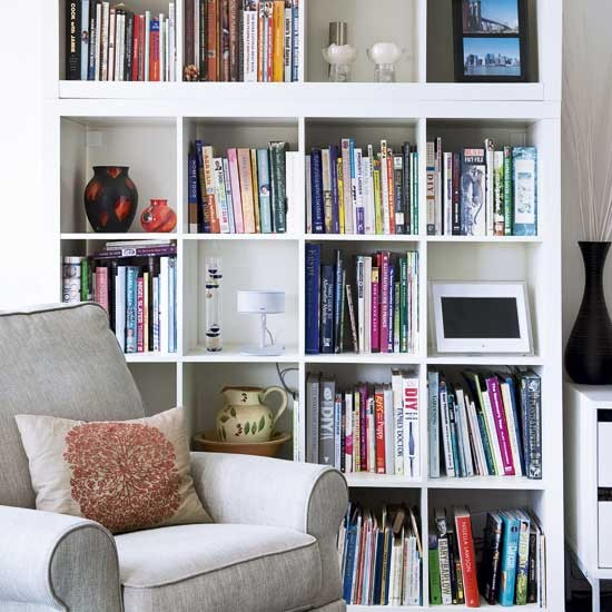 Living room storage shelving ideas image housetohome for Living room shelves