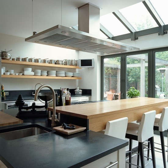 Modern bistro style kitchen extension kitchen extensions for Extensions kitchen ideas