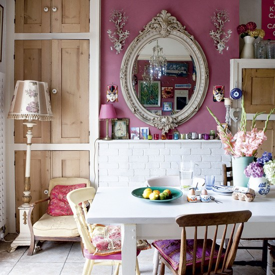 Eclectic kitchen-diner | bold colours | kitchen ideas