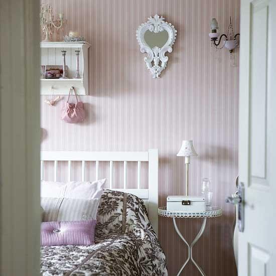 pink striped bedroom modern designs wallpaper