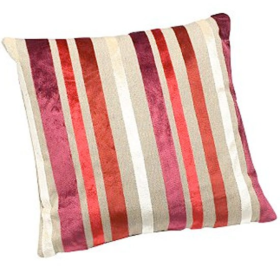 linea hampton raspberry striped cushion from house of. Black Bedroom Furniture Sets. Home Design Ideas