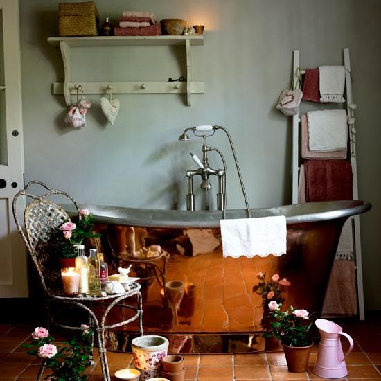 Warm bathroom | Bathroom idea | Chair | Image | Housetohome.co.uk