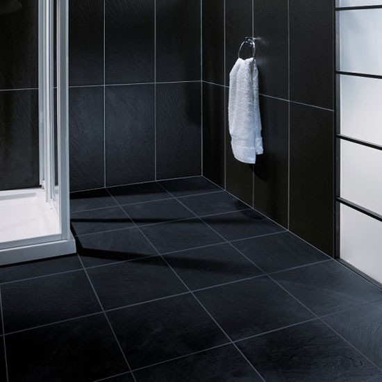 Elegant  White Bathroom Tiles Bathroom Black White Tiles Black Grout Tiles