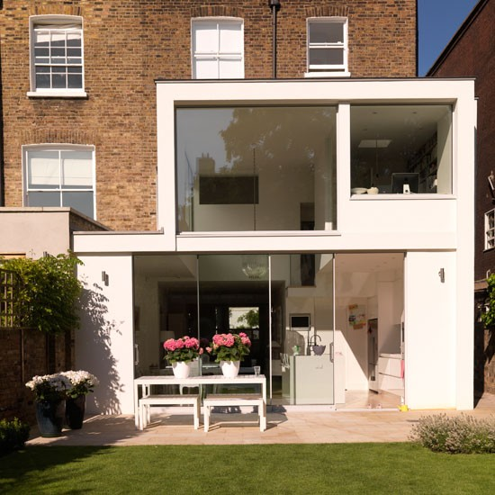 Vintage style sun room modern extensions for Terrace extension ideas
