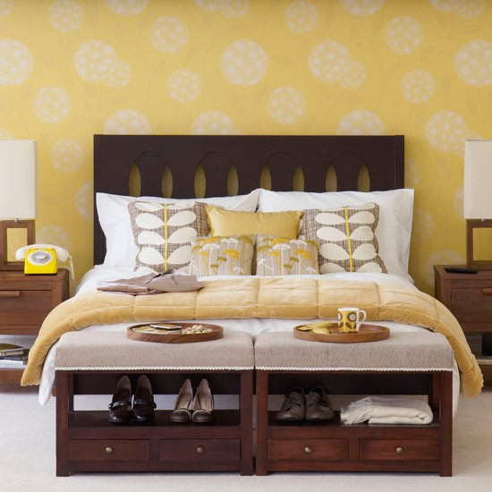 Matching bedroom wallpaper | Bedroom wallpaper ideas | Bedroom decorating ideas | PHOTO GALLERY | Housetohome.co.uk