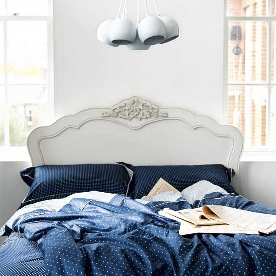 blue and white bedroom modern designs headboard