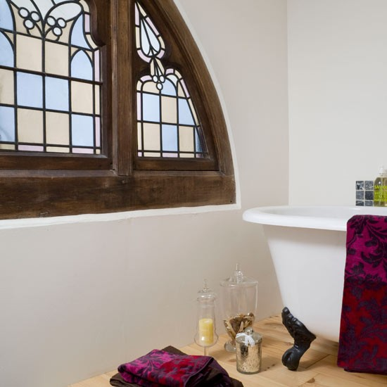 Make your windows stand out by opting for a classic stained glass design