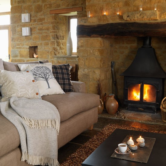 Snuggle up by the fire | Winter living room decorating ideas | Living room | PHOTO GALLERY | Housetohome.co.uk