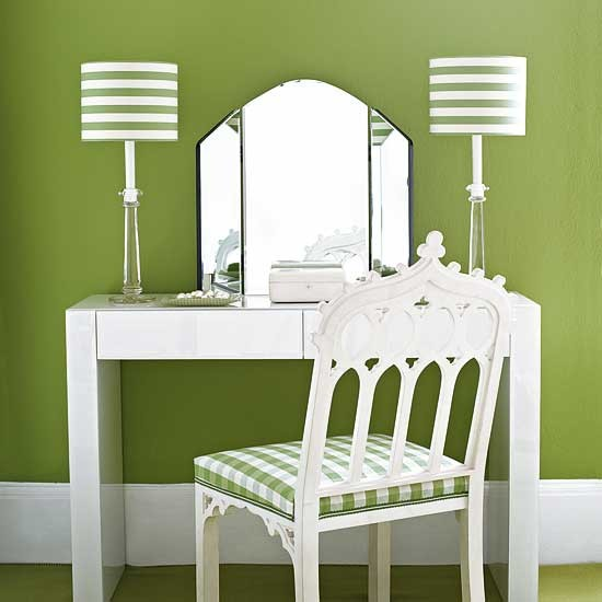 Green dressing area bedrooms dressing ideas image - Bedroom dressing area ideas ...