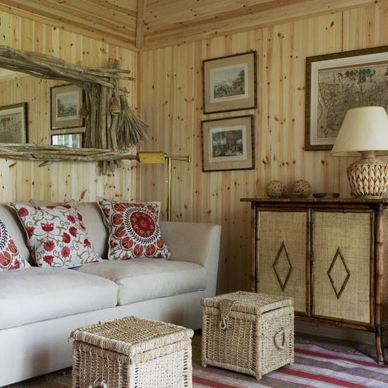 Wood paneled living room | Image | Housetohome.co.uk