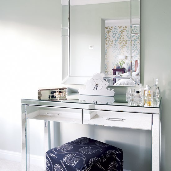 Mirrored Dressing Table Bedrooms Decor Ideas Image