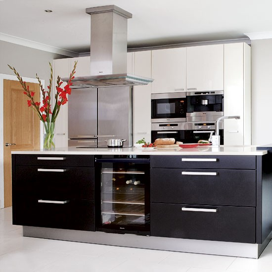 Sleek kitchen kitchens decorating ideas image for Sleek kitchen designs