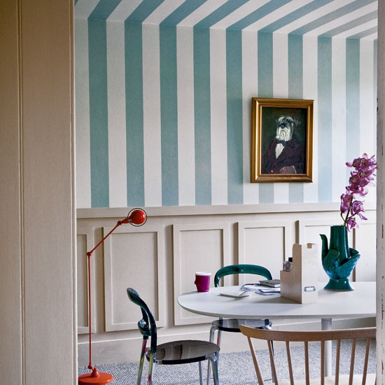 Striped dining room | Decorating with bold stripes | Decorating | Image | Housetohome