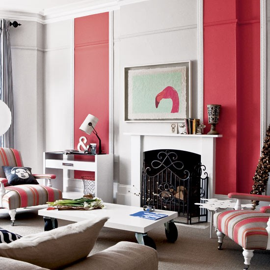 Striped living room | Decorating | Bold stripes | Image | Housetohome.co.uk