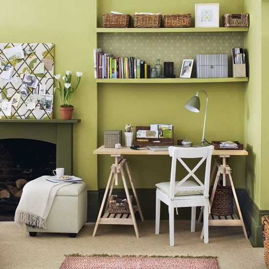 Green Home Office Design Ideas Image
