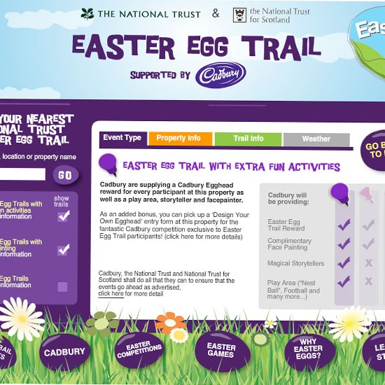Cadbury's Easter egg trails | Easter holidays 2012 | Easter 2012