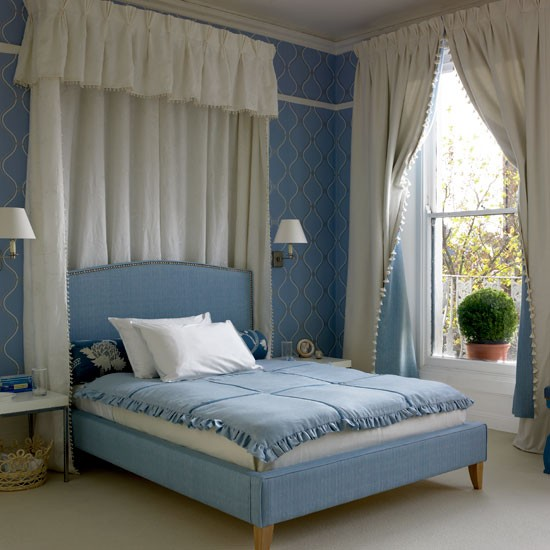 Luxurious blue and white bedroom | Bedroom decorating ideas | PHOTO GALLERY | housetohome