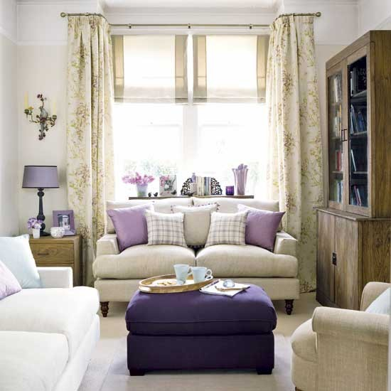Purple living room for Purple and green living room ideas