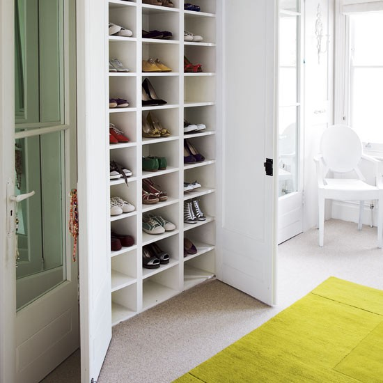 Try bespoke storage to keep your shoes in order