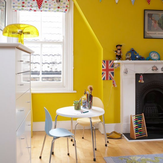 Sunshine yellow boy's bedroom | Boys' bedrooms | Boys' bedroom ideas | Children's rooms | PHOTO GALLERY | Housetohome.co.uk