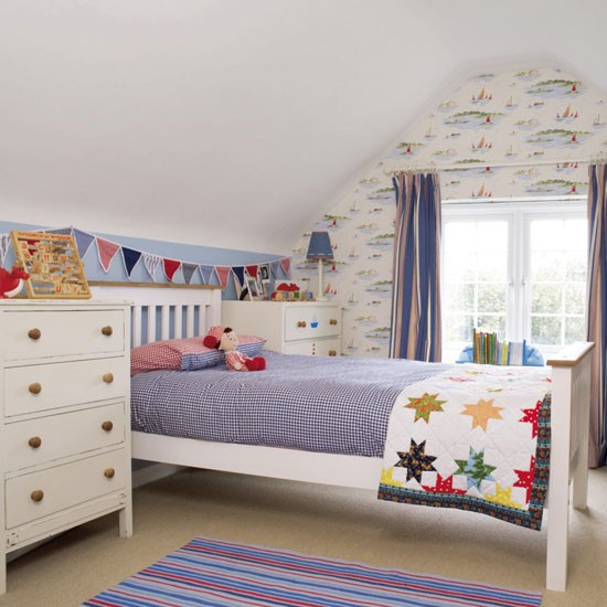 Boy's bedroom with white-painted furniture | Boys' bedrooms | Boys' bedroom ideas | Children's rooms | PHOTO GALLERY | Housetohome.co.uk