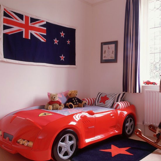 Boy's bedroom with racing car bed | Boys' bedrooms | Boys' bedroom ideas | Children's rooms | PHOTO GALLERY | Housetohome.co.uk
