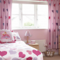 Pretty hearts bedroom for girly girls