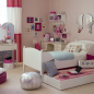Teenage girl's bedroom with pull-out bed and desk for study