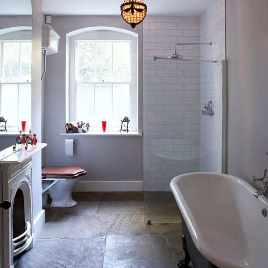 choose rough luxe slate get designer bathroom style for less