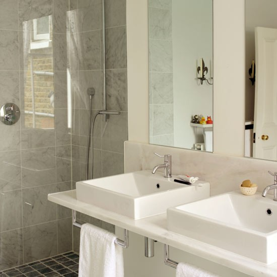 Inject boutique hotel mood get designer bathroom style B q bathroom design service