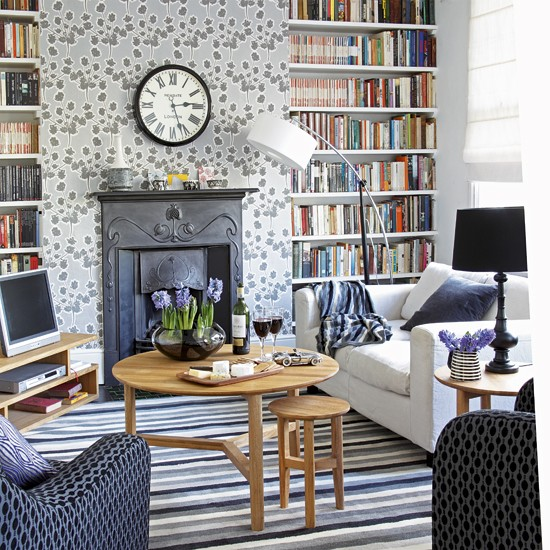 sophisticated living room image