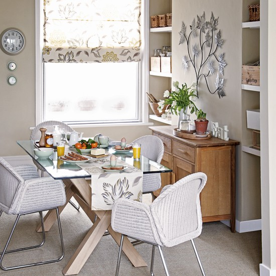 Earth tone dining room Decorating ideas Image  : Dining Room from www.housetohome.co.uk size 550 x 550 jpeg 91kB