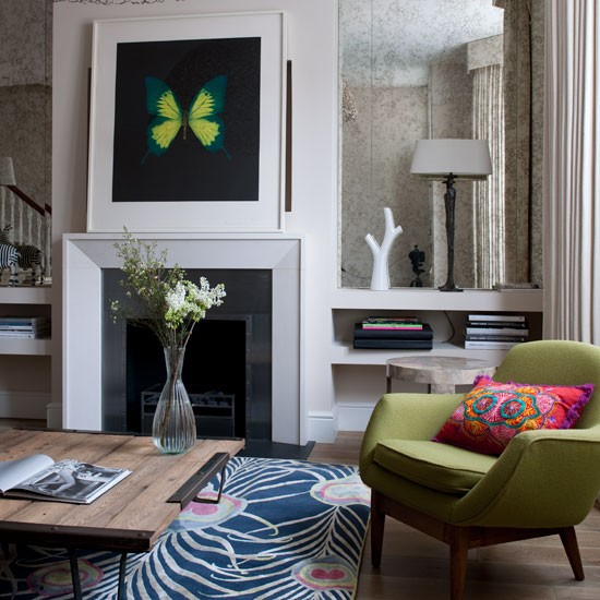 Colourful living room | Decorating ideas | Image | Housetohome.co.uk