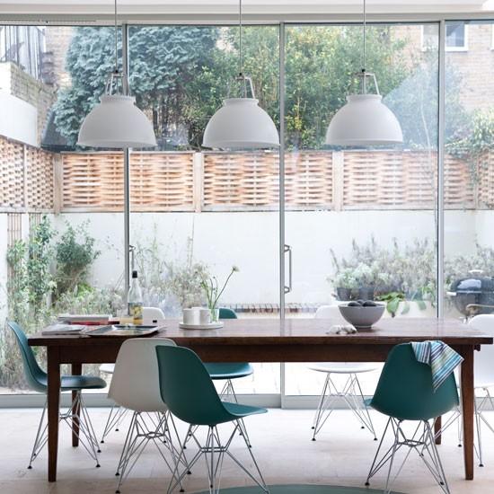 Light dining room dining rooms design ideas image for Dining room lighting ideas uk